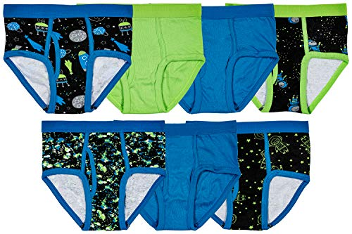 Cotton Tagless Brief - Trimfit Boys 100% Cotton Tagless Colorful Briefs (Pack of 7), Space, X-Small / 2-4