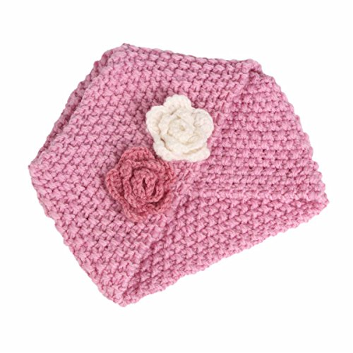 nit Beanie Flower Knitted Turban Headband Kids Cap Acrylic Knitting Turbante Hat Hair accessories (Accessories Headcovers)
