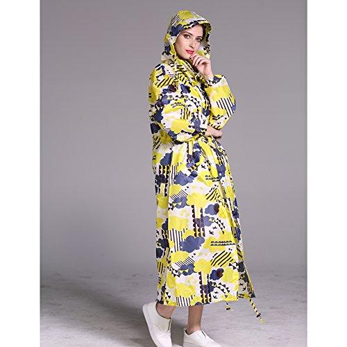 Printed Long 150 Colorful Women Clound Foldable Parka Gagacity Rainwear amp; Fashion 170cm Windproof Waterproof Yellow Raincoat Light Hooded wxR6v7q