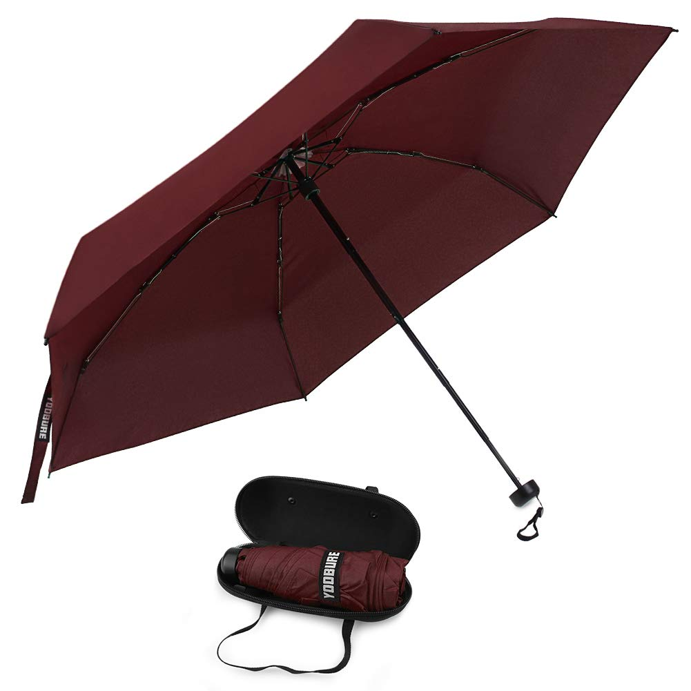 Yoobure Small Mini Umbrella with Case Light Compact Design Perfect for Travel by Yoobure