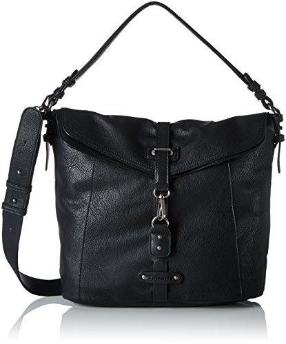 Tamaris Bernadette Hobo Bag - Shoppers y bolsos de hombro Mujer Negro (Black)