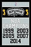 "Trends International San Antonio Spurs Champions Wall Poster 22.375"" x 34"""