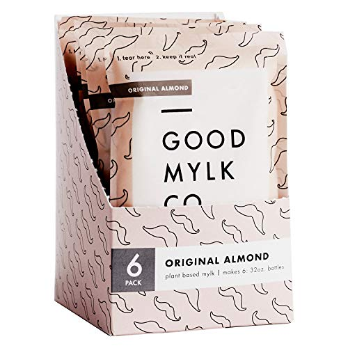 Goodmylk Co. - Almond Milk Concentrate (6 Pack) - Makes 6: 32oz Bottles - Organic, Non-GMO, Vegan, Low Glycemic, Sustainable, Keto, Dairy Free (Original)