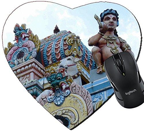 MSD Mousepad Heart Shaped Mouse Pads/Mat design 29722506 Tamil Surya Oudaya Sangam Temple Grand Baie - New Hot Tamil