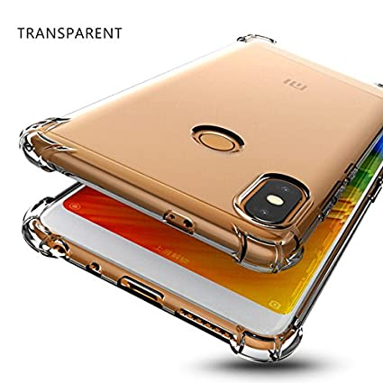 half off 531d4 3442b LOKEZEEP Anti Drop Back Case Cover with Bumper Corner for Xioami Redmi Note  5 Pro (2018) (Transparent)