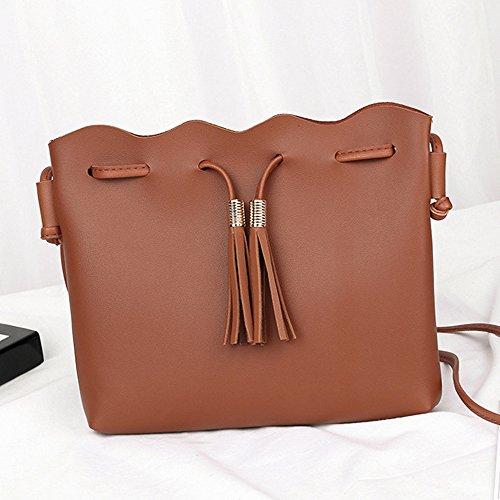 Frange Bandoulière Sac Shopping à Fille Adorable et Main à Seau brown Sac Femme Douce Mode Sac Princesse QinMM à 5EwwqRrp