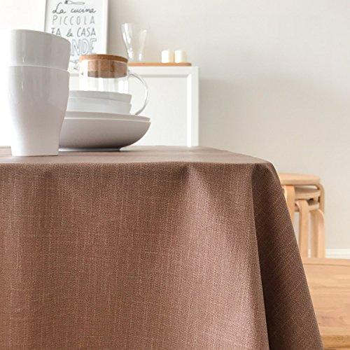 Coffee 110170cm Tapis Imperméable Moderne De Table De Ménage De Tissu De Tableau De Couleur Solide,Coffee-110  170cm