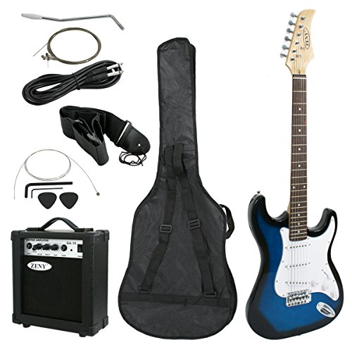 lectric Guitar with Amp, Case and Accessories Pack Beginner Starter Package, Blue Ideal Christmas Thanksgiving Holiday Gift (Blues Electric Amps)