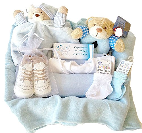 New Arrivals Hamper Baby Boy Gift Wrapped