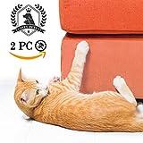 SSZY Couch Guard for All Sofa, Furniture Defender, Cat Scratch Protector, Scratching Training Aids, Transparent Cat Scratch Deterrent, Self-Adhesive Cat Scratch Tape, 2 PCS In Set 18X9 Inch