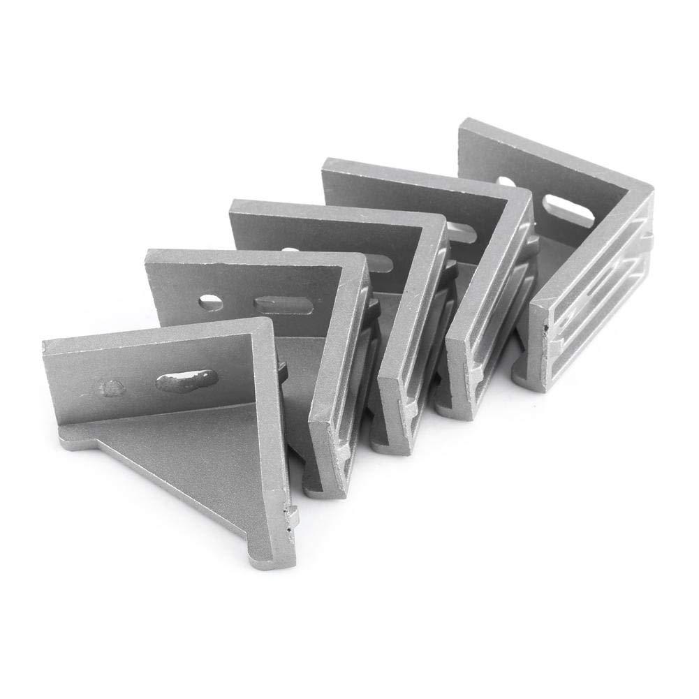 L Shape Corner Bracket,Akozon 5pcs Aluminum Alloy Right Angle Brace Fastener 58x58mm