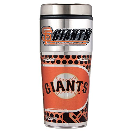 MLB San Francisco Giants Metallic Travel Tumbler,  16-Ounce