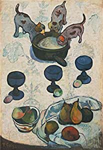 Perfect effect Canvas,the Vivid Art Decorative Prints on Canvas of oil painting 'Still Life with Three Puppies', 18x26 inch/46x66 cm is best for Living Room decor and Home decoration and Gifts