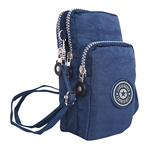 Small Shoulder Blue Design Wristlet Nylon Girls Crossbody Bag Ladies Navy Handbags Wocharm qPYAIx