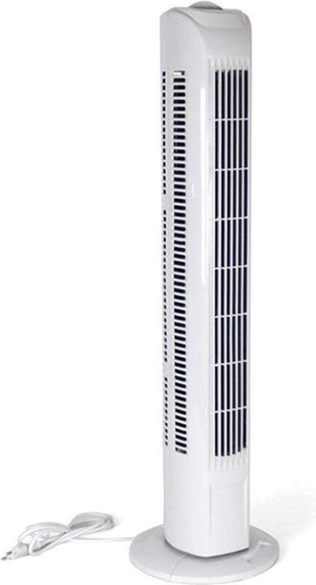 gerimport Modern Tower Fan - Ventilador de torre (45 W, 15 x 15 x 79 cm), color blanco