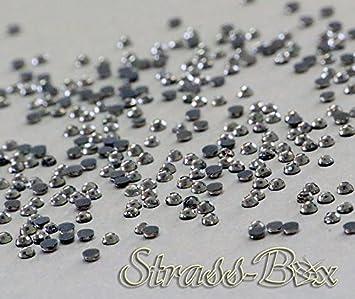 Hotfix DMC Strasssteine BLACK DIAMOND SS10  Stückzahl wählbar  smoke Grau Strass
