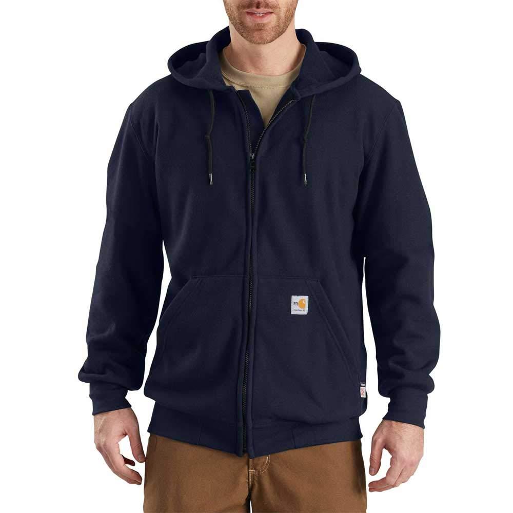 Carhartt Men's Big Big & Tall Flame Resistant Heavyweight Zip Sweatshirt, Dark Navy, 3X-Large/Tall