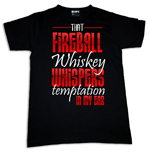 That Fireball Whiskey Whispers Temptation Womens T-shirt (L) (Womens Fireball Whiskey Shirt)