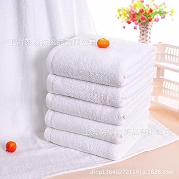 XXIN Toallas De Baño De Algodón Puro 300 * 140 Toallas Blancas De Algodón Toallas del Hotel Salón De Belleza, Baño Blanco 70 * 140: Amazon.es: Hogar