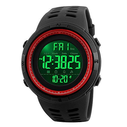 Army Logo Watch - Men's Digital Sports Watch Waterproof Military Stopwatch Countdown Auto Date Alarm