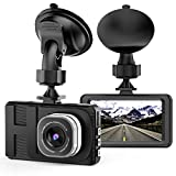 "Dash Cam Camera for Cars with Full HD 1080P 170 Degree Super Wide Angle Cameras, 3.0"" TFT Display, WDR, Loop Recording, G-Sensor"