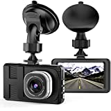 """Dash Cam Camera for Cars with Full HD 1080P 170 Degree Super Wide Angle Cameras, 3.0"""" TFT Display, WDR, Loop Recording, G-Sensor"""