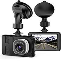 Dash Cam Camera for Cars with Full HD 1080P 170 Degree Super Wide Angle Cameras, 3.0' TFT Display, WDR, Loop Recording, G-Sensor