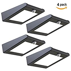 30 LED Solar Lights Outdoor, Super Bright Solar Motion Sensor Lights, Wireless Waterproof Security Lights with 120 Degree Wide Angle Illumination for Wall, Driveway, Patio, Yard, Garden (4 Pack)