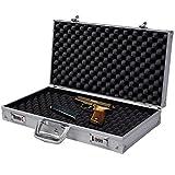 Super buy 18.5'' Aluminum Framed Locking Gun Pistol HandGun Lock Box Hard Storage Carry Case