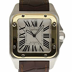 Cartier Santos 100 swiss-automatic mens Watch W20072X7 (Certified Pre-owned)