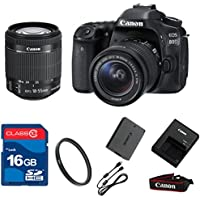 Canon 80D DSLR + 18-55mm IS STM Lens + 16GB Memory + UV Filter + Deluxe Value - International Version