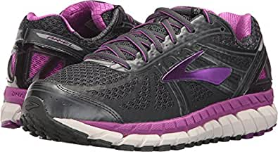 Brooks Women's Ariel '16 Anthracite/Purple Cactus Flower/Primer Grey Athletic Shoe