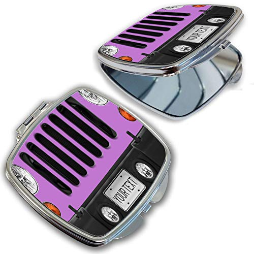BRGiftShop Personalize Your Own SUV Bumper Car Grill Pink License Plate Compact Pocket Cosmetic Mirror