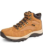 CC-Los Men's Hiking Boots Shoes Fully Waterproof Mid Low Top Boot Shoe Shock-Absorbing EVA Casual Outdoor Lightweight