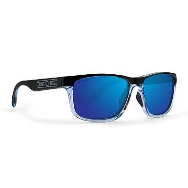d9b46bd2af3 Image Unavailable. Image not available for. Color  Epoch Delta 2.0 Golf  Sport Polarized Sunglasses Crystal Blue Black Frame with Blue Mirror Lens