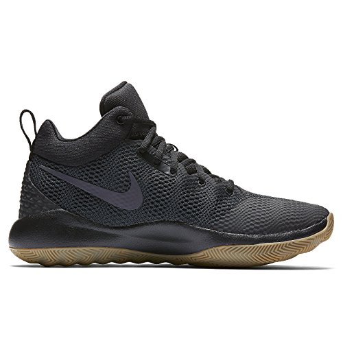 Nike Men's Zoom Rev 2017 Basketball Shoe BLACK/ANTHRACITE-GUM - Women Nike Shox Size 10