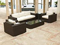 Source Outdoor King Wicker 6 Piece Sofa Conversation Set by Source Outdoor
