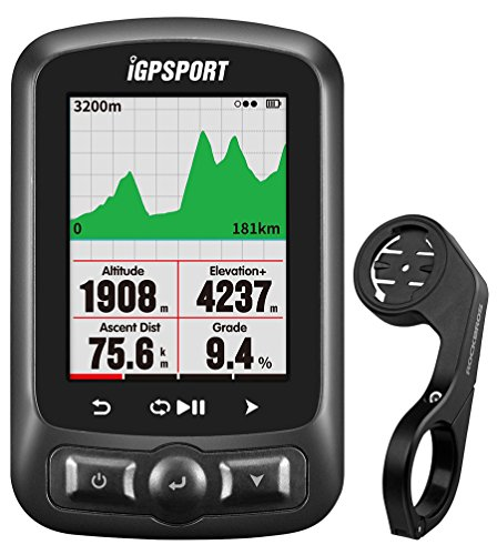 IGPSPORT GPS Bicycle Computer Wireless igs618 ANT+ Bluetooth Bike Computer GPS Cycle Computer Waterproof IPX7 Support Power Meter, Speed/Cadence Sensor, Heart Rate Monitor