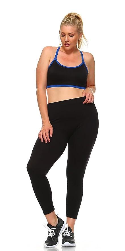 9974a57e6d3 PinkPunch Women s Plus Size Racerback Sports Bra at Amazon Women s Clothing  store