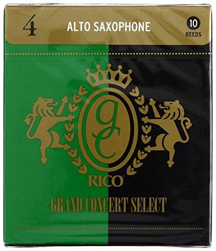 Rico Grand Concert Select Alto Sax Reeds, Strength 4.0, 10-p