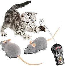 De perro de juguete de control remoto del ratón inalámbrico de plástico que se reúne la Tricky gato