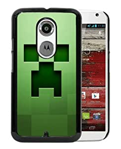 minecraft background graphics green Black Popular Sell Customized Design Motorola Moto X 2nd Generation Case