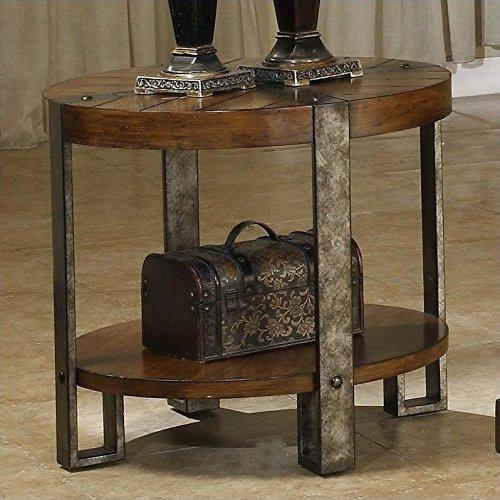 Sierra Round End Table (Desk Riverside Oak)