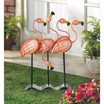 Tropical Flamingo Flock Iron Home Garden Decor Figure