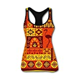 Indian Totem 3D Print Summer Fashion Sleeveless Tanks Vest Shirt Women Girl L