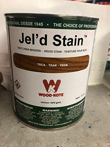 WOOD KOTE PRODUCTS INC 212-4 QT TEAK JEL FT. D STAIN 212-4 ()
