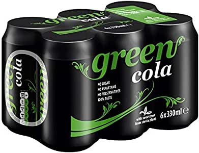 Green Cola Drink without Sugar - Pack of 6