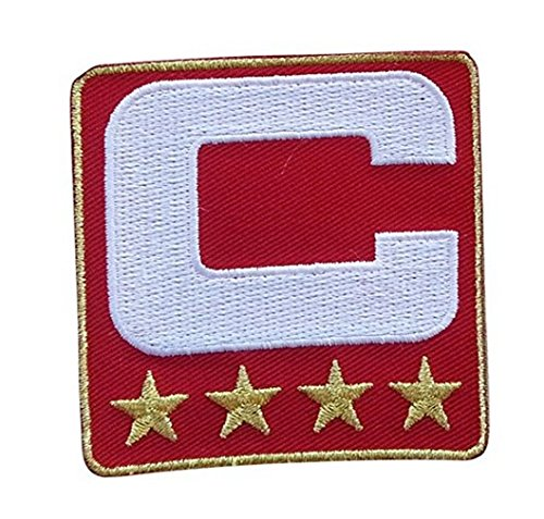 Wendy Red Captain C Patch (4 Gold Stars) sewing On for Jersey Football, Baseball