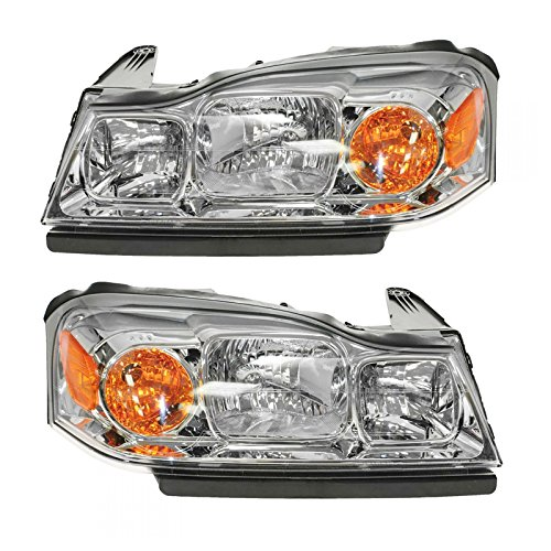 - Headlights Headlamps Left & Right Pair Set for 06-07 Saturn Vue