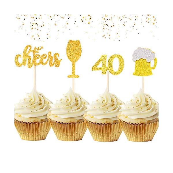 Swell 30 Pcs Laventy 40Th Birthday Cake Topper Hello 40 Cake Topper 40Th Funny Birthday Cards Online Eattedamsfinfo